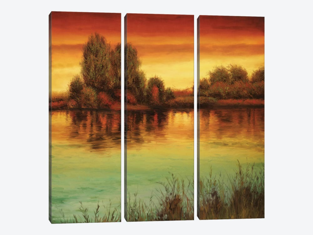 River Sunset II by Neil Thomas 3-piece Canvas Art Print
