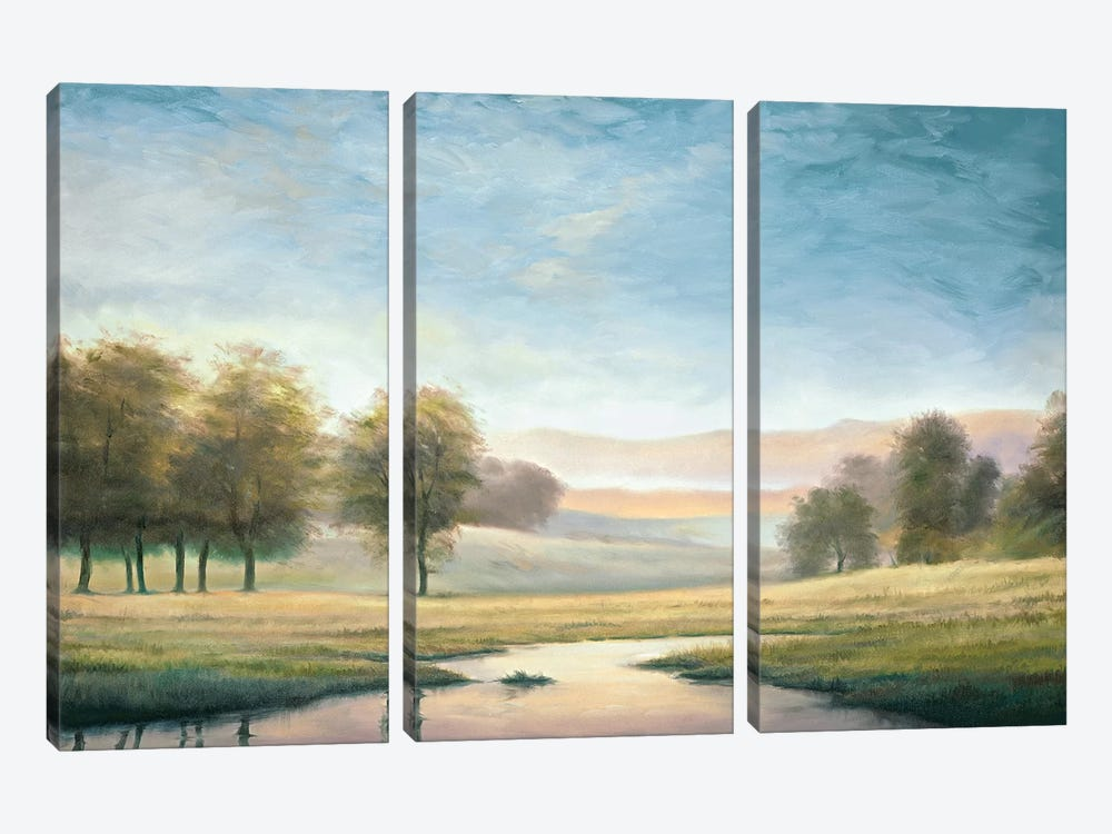 Morning Reflection II by Neil Thomas 3-piece Canvas Artwork