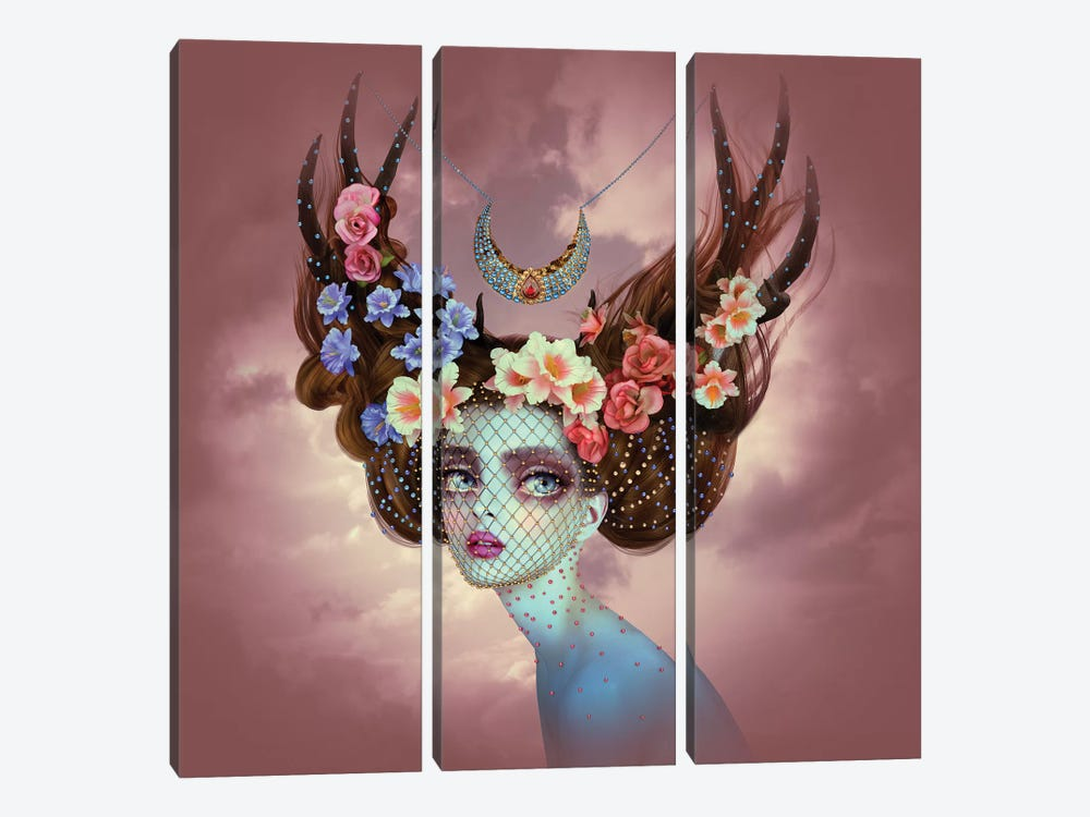 Fawn by Natalie Shau 3-piece Canvas Artwork