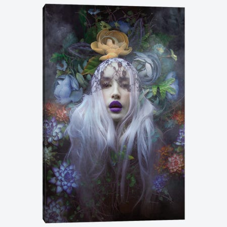 Floral Portrait Canvas Print #NTL15} by Natalie Shau Canvas Art