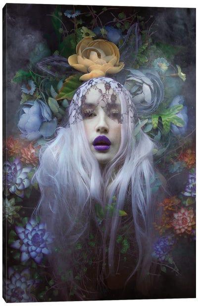 Floral Portrait Canvas Art Print