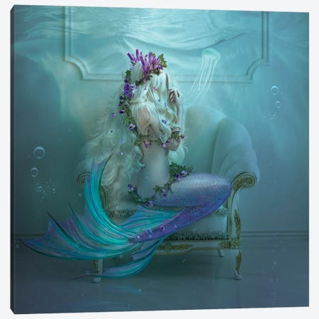 Mermaid Tears Canvas Print #NTL28} by Natalie Shau Canvas Art