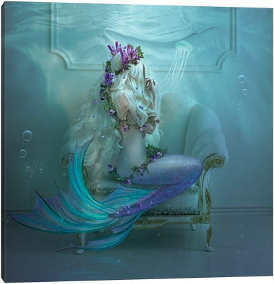 Mermaid Tears Canvas Art Print
