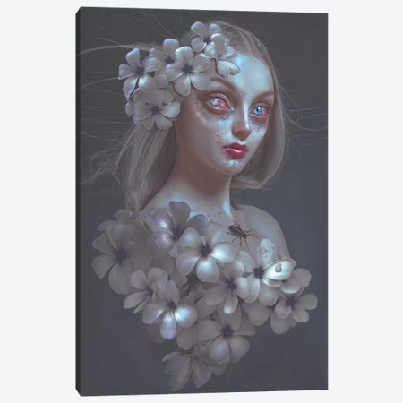 Pale Flower Canvas Print #NTL32} by Natalie Shau Canvas Art Print