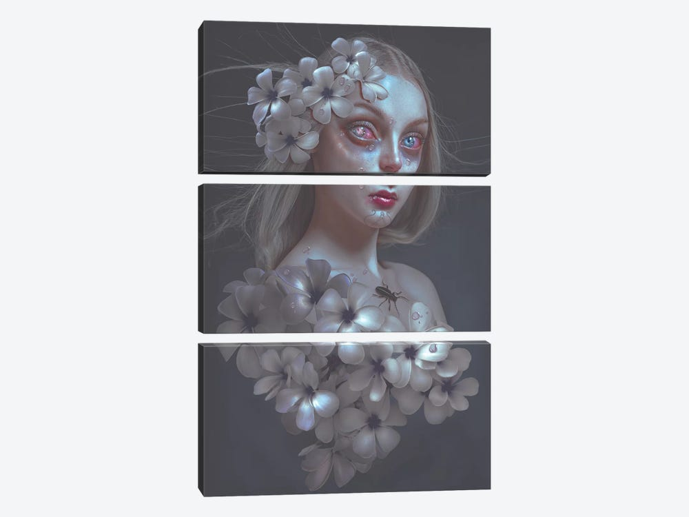 Pale Flower by Natalie Shau 3-piece Canvas Wall Art