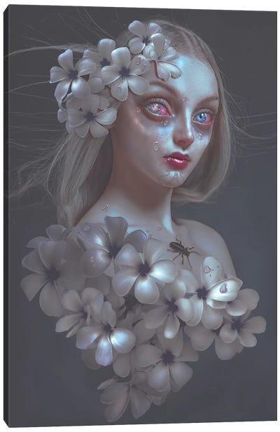 Pale Flower Canvas Art Print