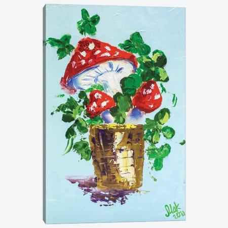 Amanita Muscaria Canvas Print #NTM10} by Nataly Mak Canvas Artwork