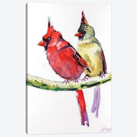 Two Cardinals Canvas Print #NTM130} by Nataly Mak Canvas Art