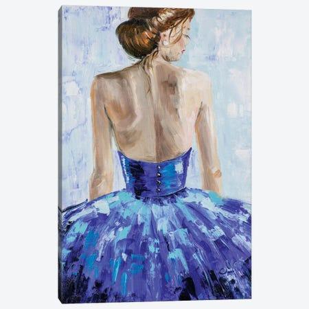 Woman In Blue Canvas Print #NTM13} by Nataly Mak Canvas Art