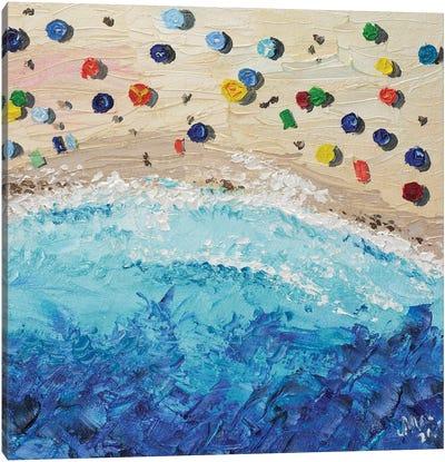Aerial Beach Canvas Art Print