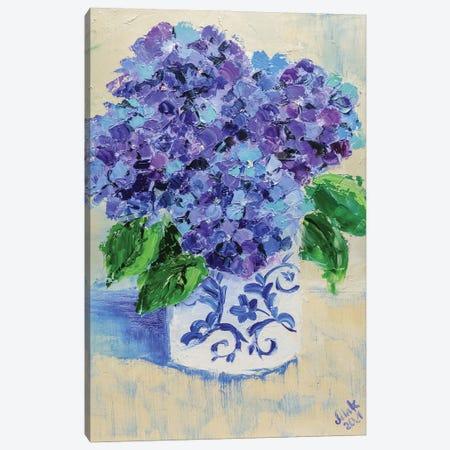 Purple Hydrangea Canvas Print #NTM16} by Nataly Mak Canvas Art Print