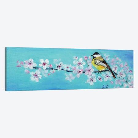 Bird On Blossom Branch Canvas Print #NTM17} by Nataly Mak Canvas Art Print