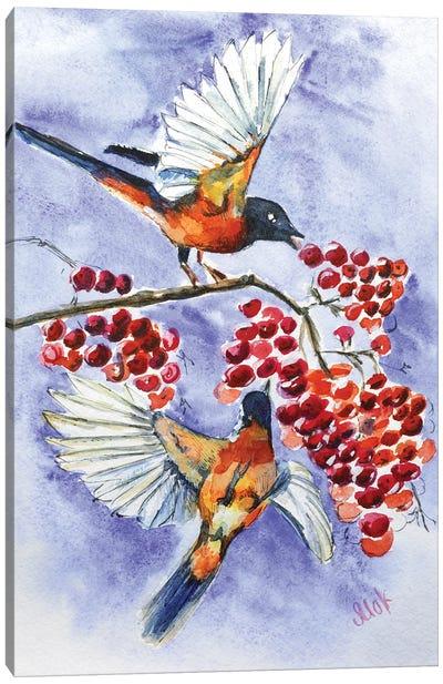 Birds And Rowan Canvas Art Print