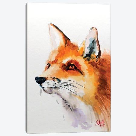 Fox Canvas Print #NTM31} by Nataly Mak Canvas Wall Art