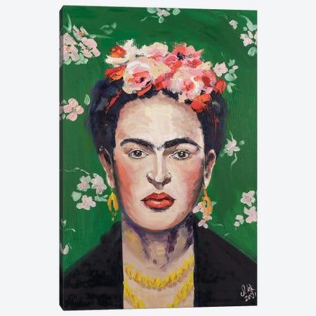 Frida Kahlo Canvas Print #NTM32} by Nataly Mak Canvas Artwork