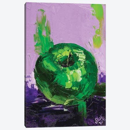 Green Apple Canvas Print #NTM35} by Nataly Mak Canvas Art Print