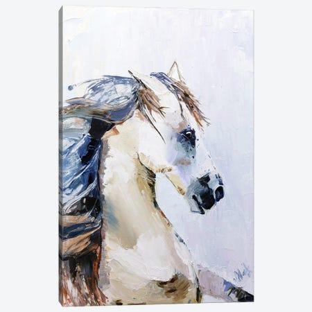 White Horse Canvas Print #NTM37} by Nataly Mak Canvas Art Print
