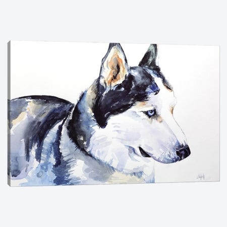 Siberian Husky Canvas Print #NTM39} by Nataly Mak Canvas Wall Art