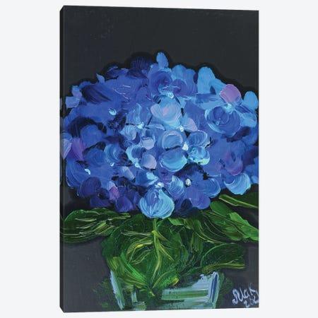 Blue Hydrangea Canvas Print #NTM3} by Nataly Mak Art Print