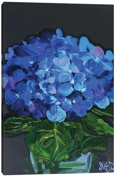 Blue Hydrangea Canvas Art Print