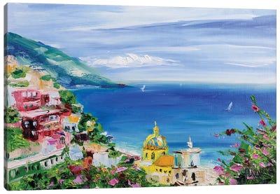 Positano Landscape Canvas Art Print