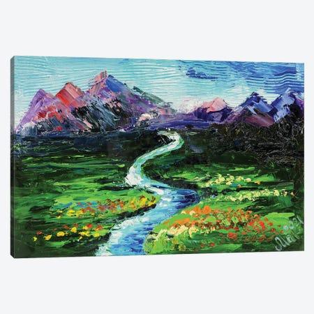 Green Valley Landscape Canvas Print #NTM48} by Nataly Mak Canvas Print