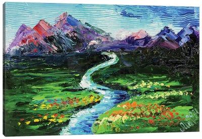 Green Valley Landscape Canvas Art Print