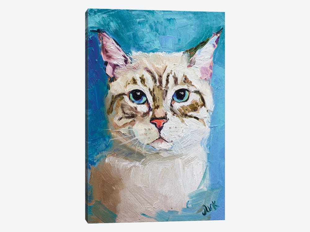 White Cat by Nataly Mak 1-piece Canvas Print