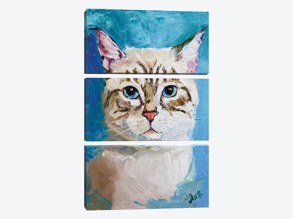 White Cat by Nataly Mak 3-piece Art Print