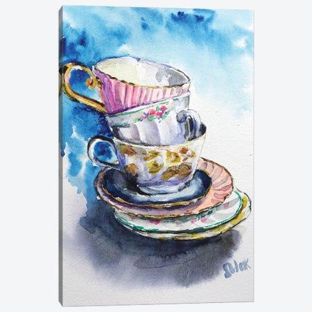 Cups Canvas Print #NTM50} by Nataly Mak Canvas Wall Art