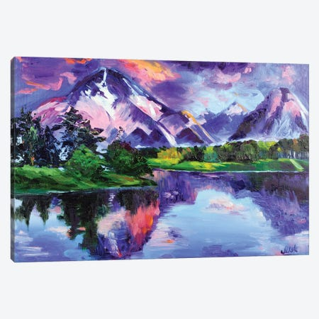 Mountain Landscape Canvas Print #NTM52} by Nataly Mak Canvas Art