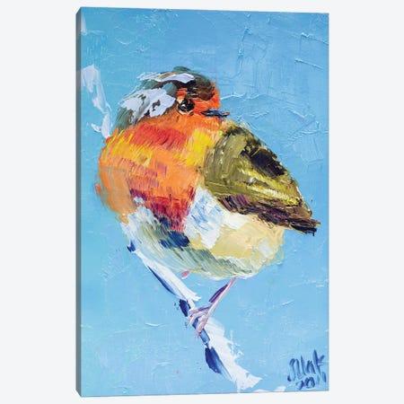 Robin Bird Canvas Print #NTM69} by Nataly Mak Art Print