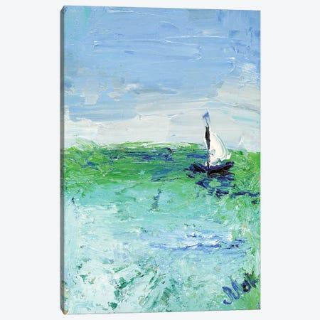 Sailboat Canvas Print #NTM70} by Nataly Mak Canvas Wall Art