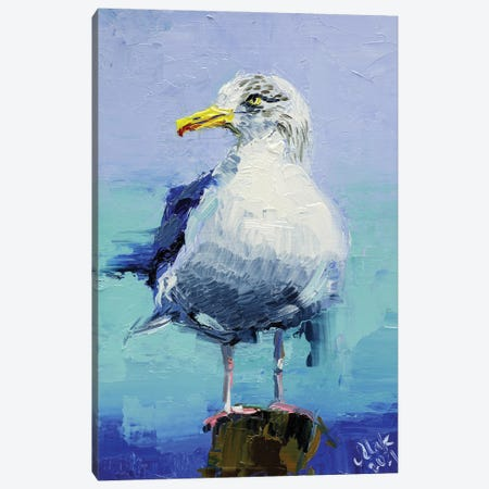 Seagull Canvas Print #NTM72} by Nataly Mak Canvas Artwork