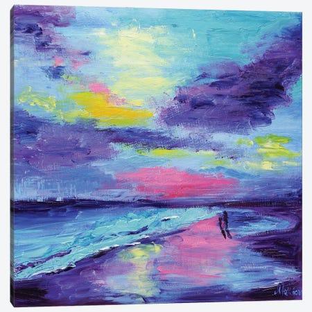 Coastal Landscape Canvas Print #NTM76} by Nataly Mak Art Print
