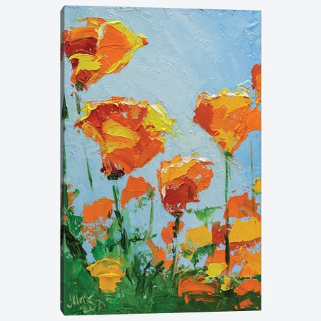 California Poppy Canvas Print #NTM93} by Nataly Mak Canvas Wall Art
