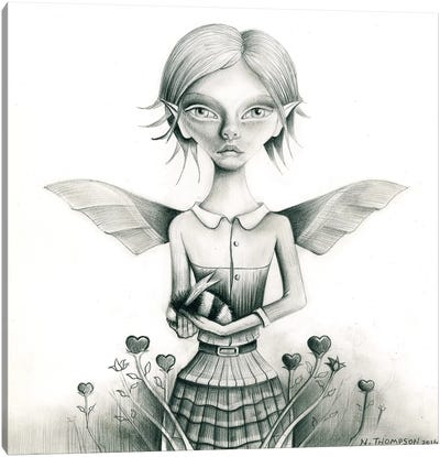 Fairy With Bee Canvas Art Print