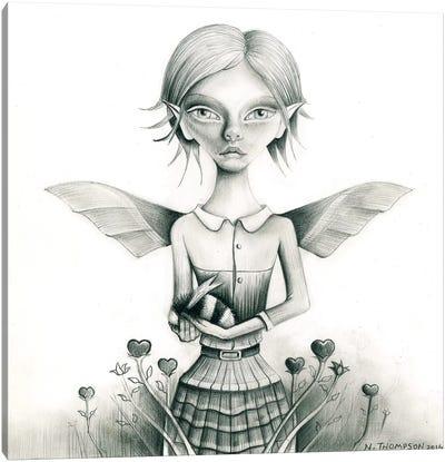 Fairy With Bee Canvas Art Print