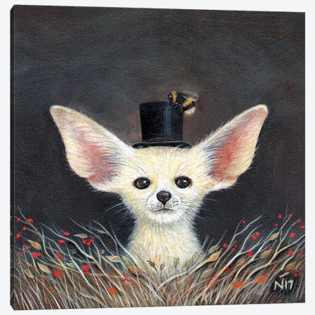 Fennec Fox Canvas Print #NTP16} by Neil Thompson Canvas Wall Art