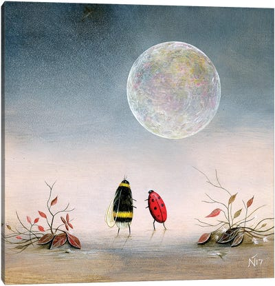Follow The Moon Canvas Art Print
