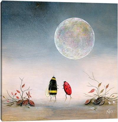 Follow The Moon Canvas Art Print