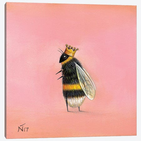 Queen Bee Canvas Print #NTP28} by Neil Thompson Canvas Artwork