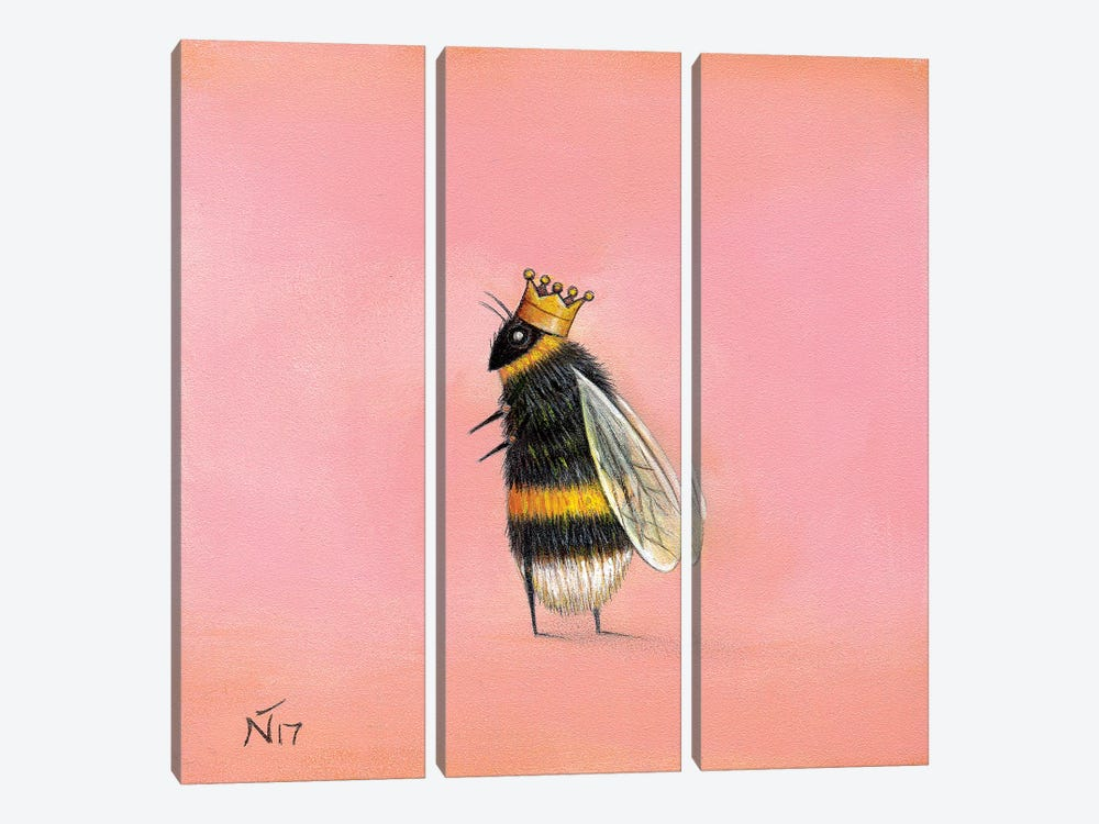Queen Bee by Neil Thompson 3-piece Canvas Artwork