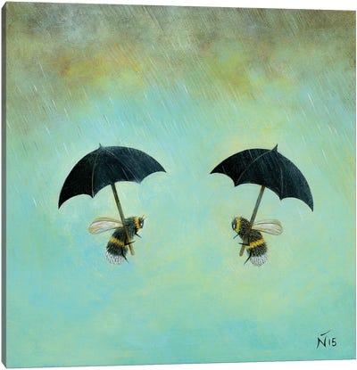 Rainy Day Conversation Canvas Art Print