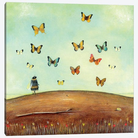 The Butterfly Collector Canvas Print #NTP36} by Neil Thompson Canvas Art