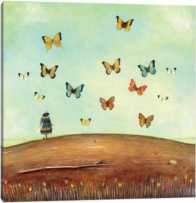 The Butterfly Collector Canvas Art Print