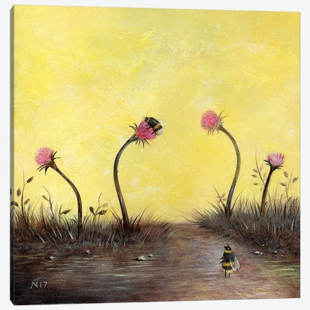Amongst The Thistles Canvas Print #NTP4} by Neil Thompson Canvas Art