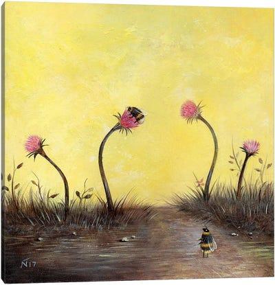 Amongst The Thistles Canvas Art Print
