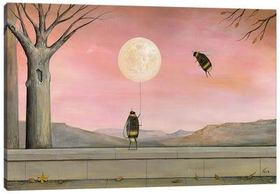 Moon Balloon Canvas Art Print