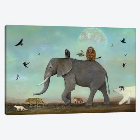 Procession Canvas Print #NTP60} by Neil Thompson Canvas Wall Art